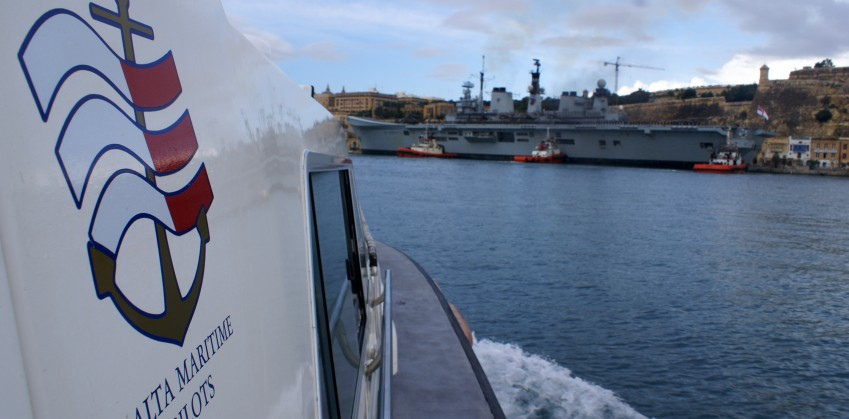 Pilot Boat and HMS Illustrious